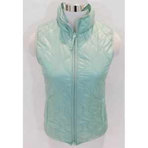 J Crew Mint Green Puffer Layering Quilted Vest XS
